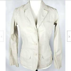 Eddie Bauer Blazer Jacket S Khaki Cotton Stretch